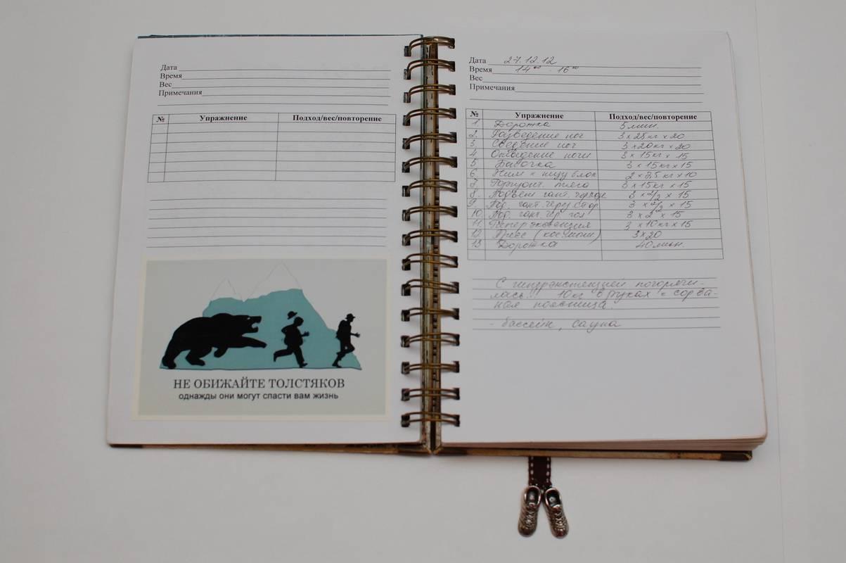 Как правильно составить и вести дневник тренировок?