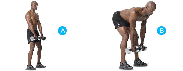 Тяга гантели в наклоне - базовое упражнение для проработки мышц спины