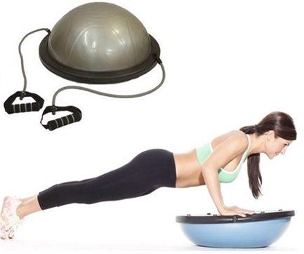 Комплекс упражнений на полусфере bosu