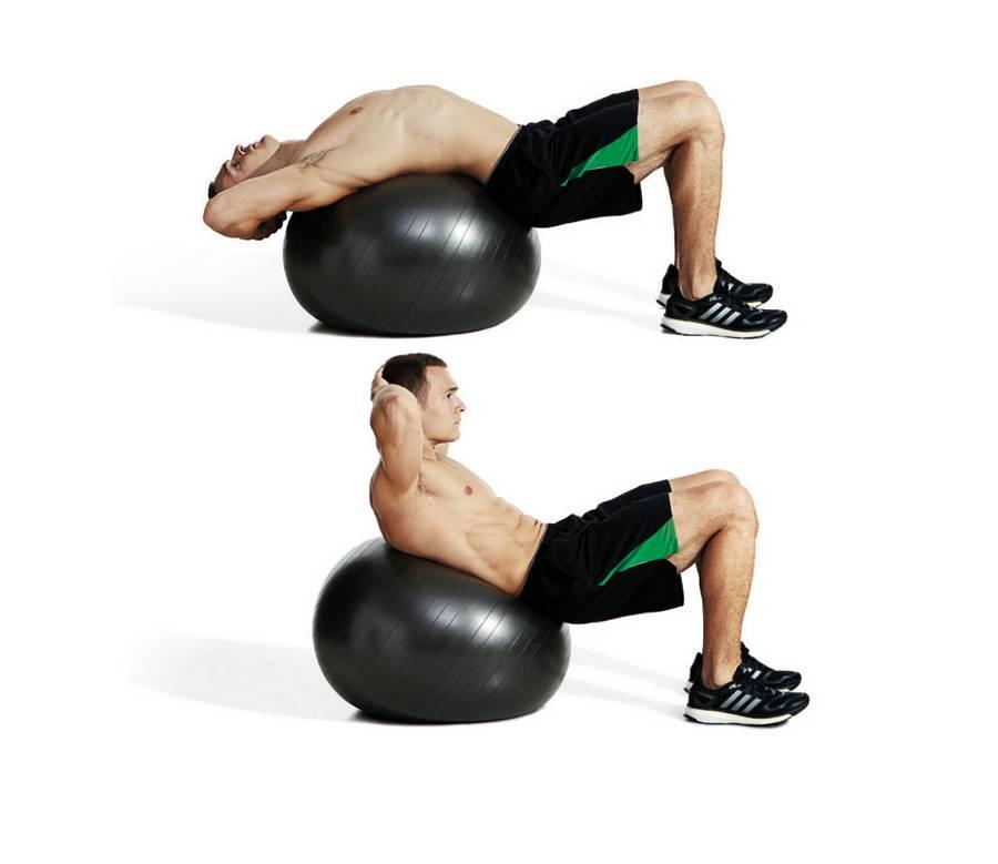 Упражнения на пресс на фитболе — sportfito — сайт о спорте и здоровом образе жизни