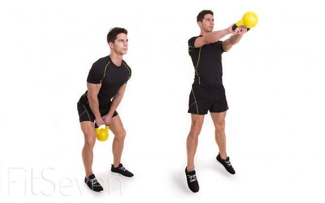 9 эффективных упражнений с гирей на все тело для тренировки рук, спины, пресса и плечевого пояса
