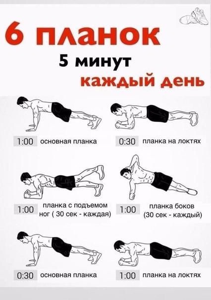 Упражнение планка: как правильно делать, сколько раз в день делать планку