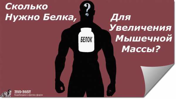 Сколько белка нужно в день для роста мышц или похудения