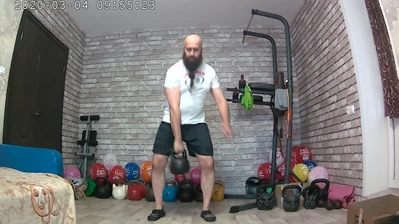 Упражнения с гирями от 16 кг в домашних условиях