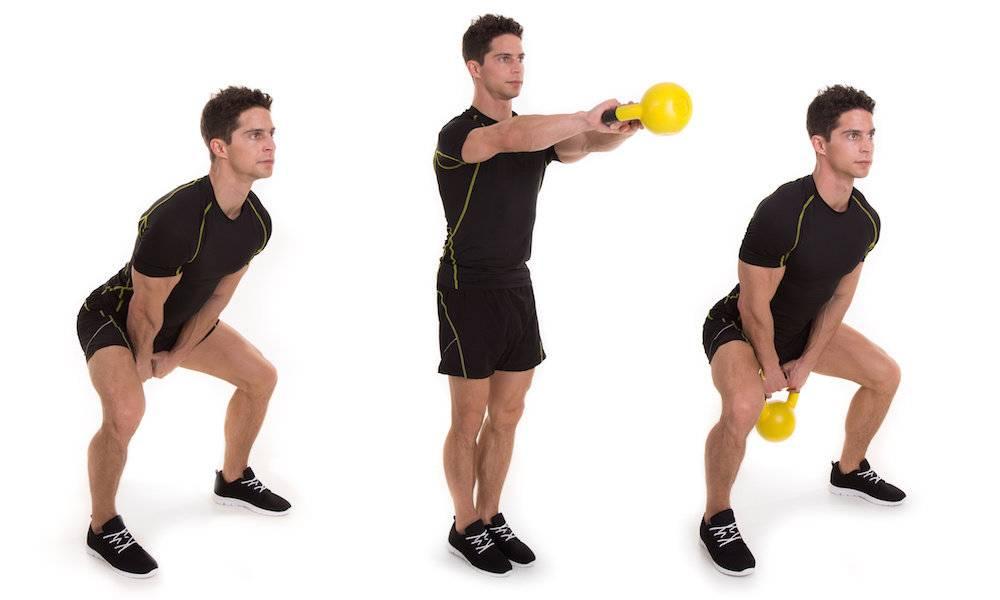 Махи гирей двумя руками или одной: полный разбор упражнения
