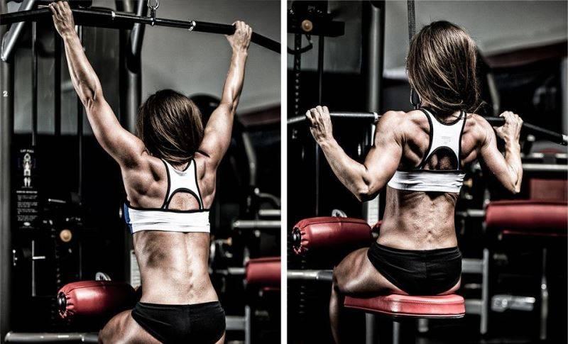 Тренировка спины для девушек в тренажерном зале и домашних условиях