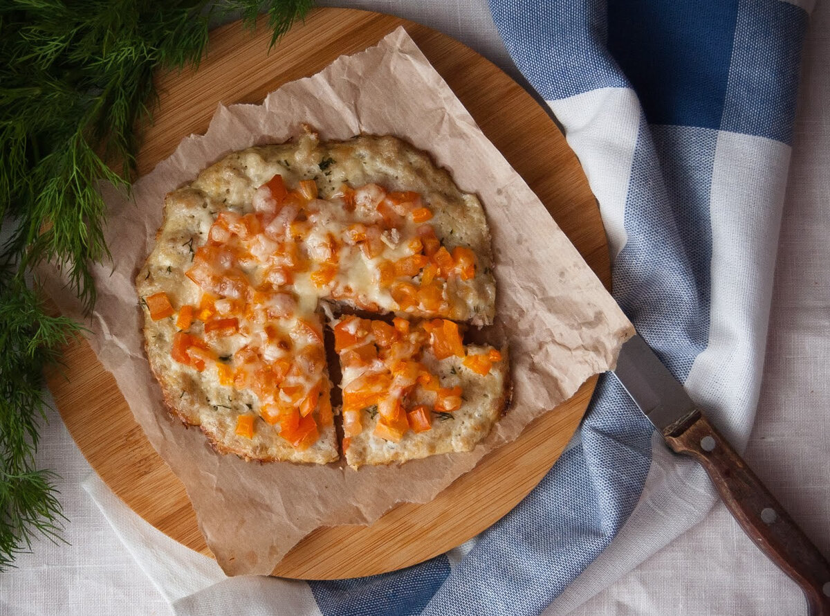 Пп пицца на курином фарше на сковороде в духовке: рецепт с фото - спортзал