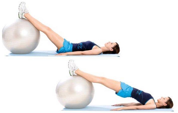 Топ упражнений для ягодиц и ног с фитболом
