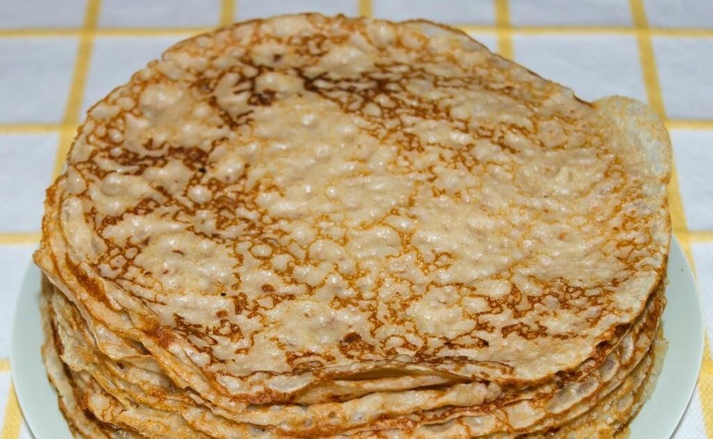 Рецепт блинов из пшеничной цельнозерновой муки на молоке