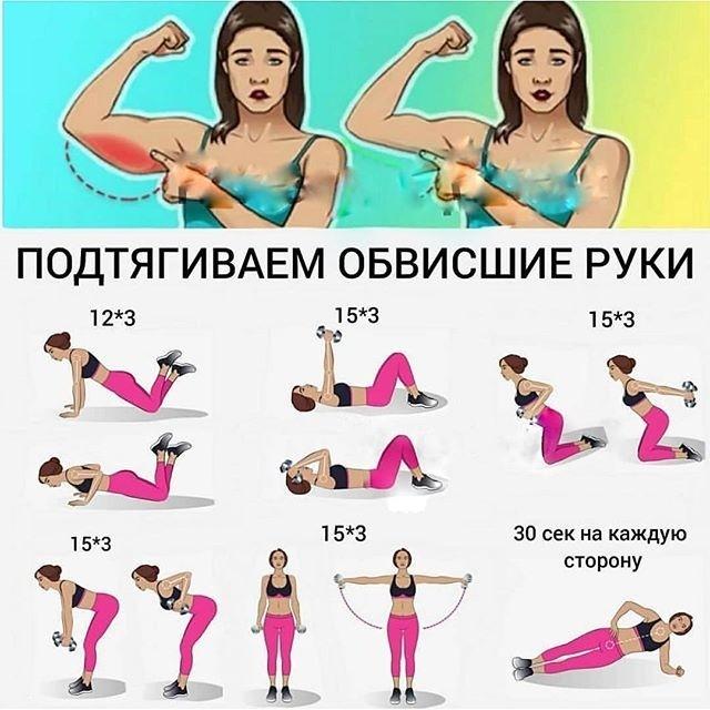 Как убрать жир с рук девушкам: диета и упражнения для похудения рук в домашних условияхwomfit