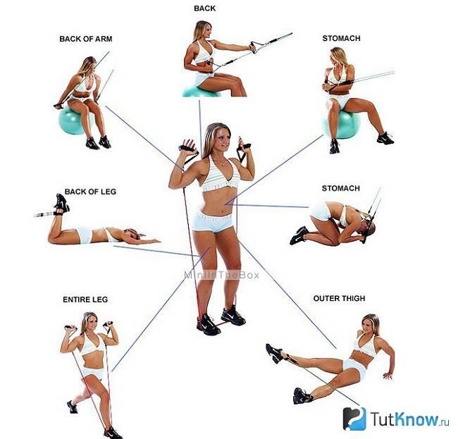 Топ лучших комплексов упражнений с эластичной лентой для всего тела