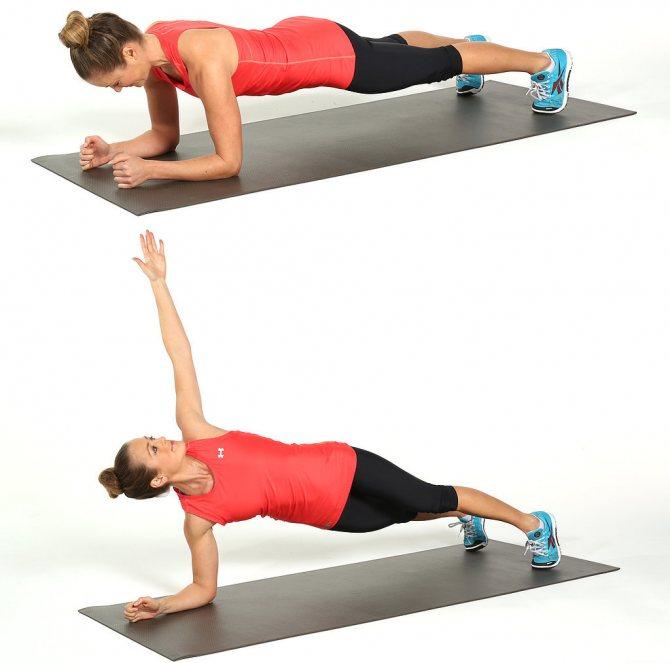 Упражнение планка: какие мышцы работают при выполнении