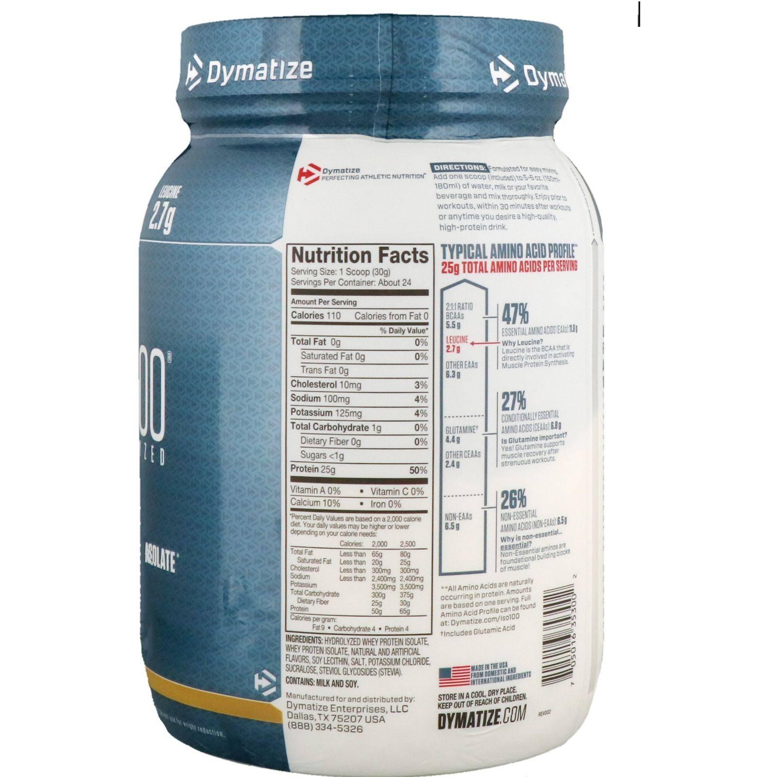 Iso-100 dymatize nutrition отзывы