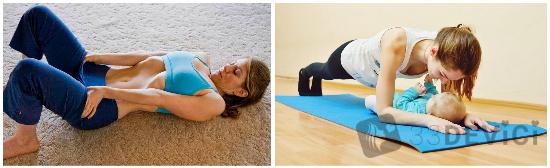 Упражнения для живота после родов для подтяжки мышц