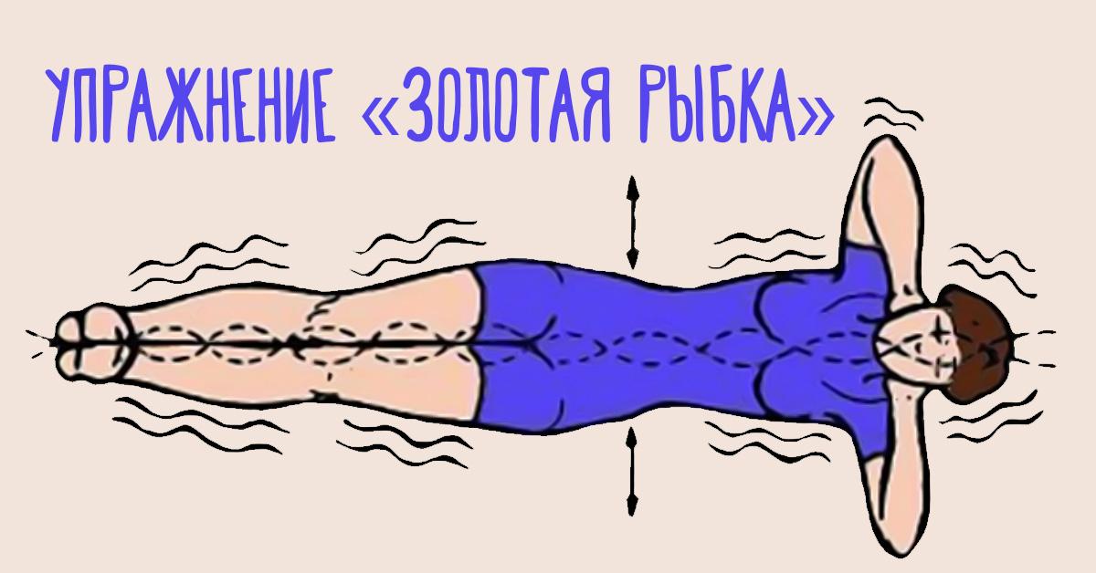 Упражнение «золотая рыбка», комплекс упражнений «рыбка» для позвоночника