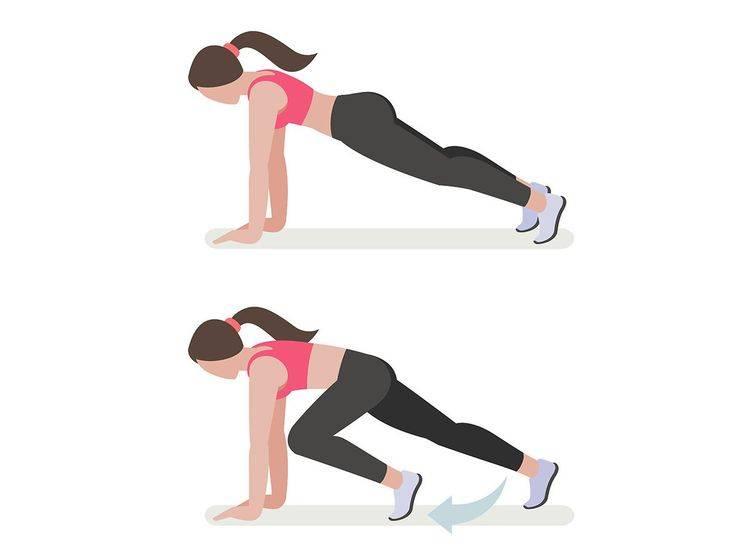 Упражнение скалолаз: техника выполнения, какие мышцы работают