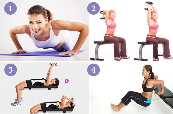 Упражнения на трицепс в домашних условиях для женщин: лучший комплекс и правила