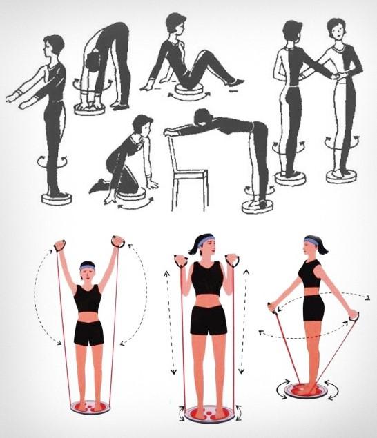 Диск здоровья: упражнения для похудения, тренажер для талии, отзывы и результаты, гимнастический круг грация