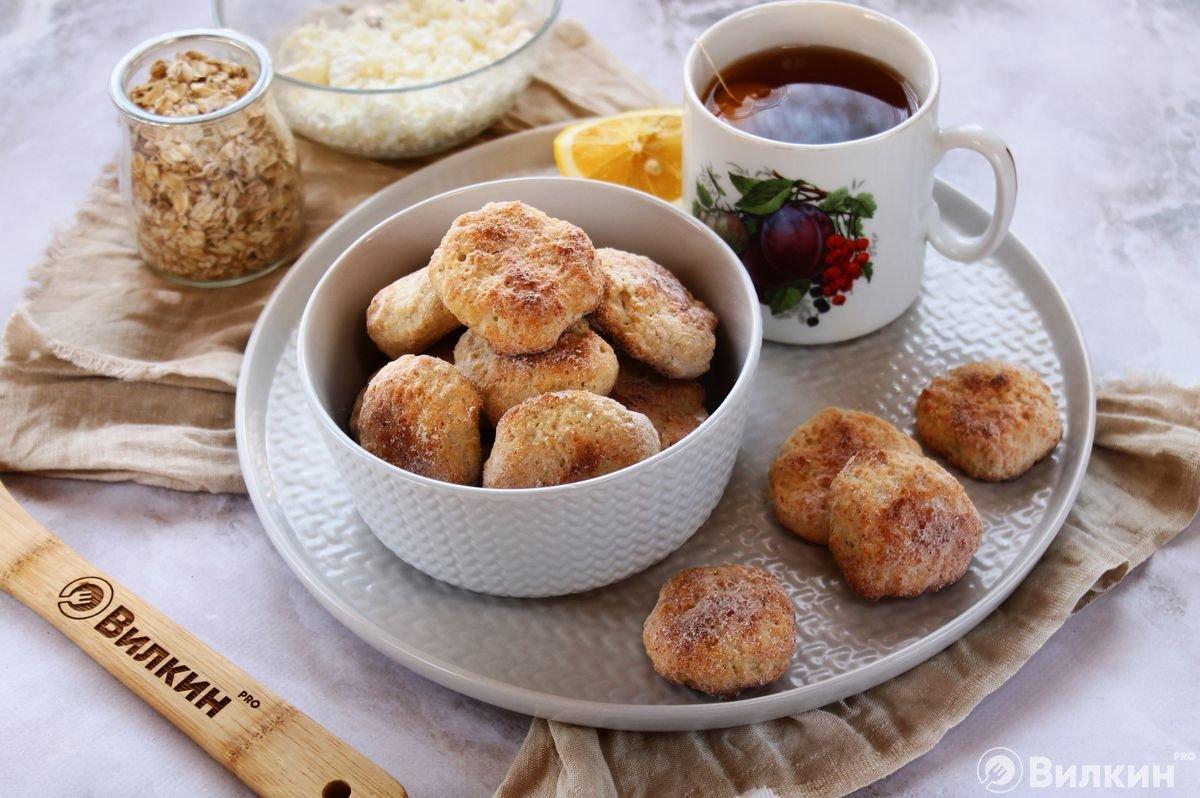 Печенье ПП из овсяных хлопьев и творога в домашних условиях