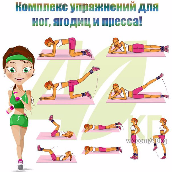 Упражнения для ягодиц: как накачать попу девушке в домашних условиях