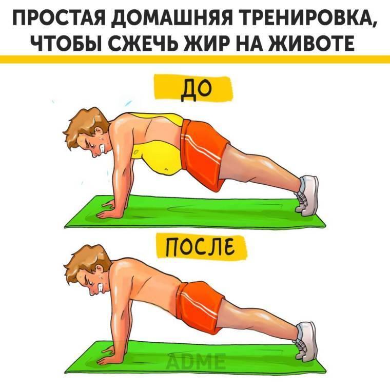 Сжигание подкожного жира на животе и боках для мужчин: питание, продукты, лучшие тренировки