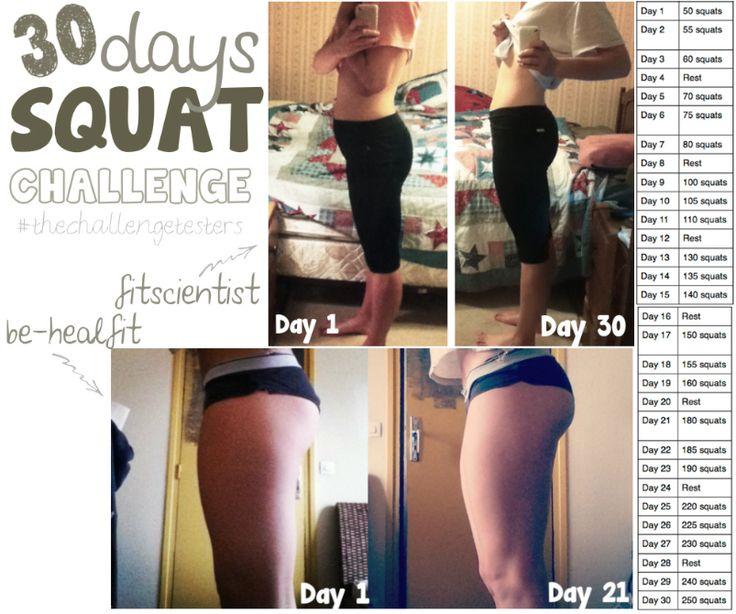 30-ти дневный комплекс приседаний для похудения и укрепления мышц