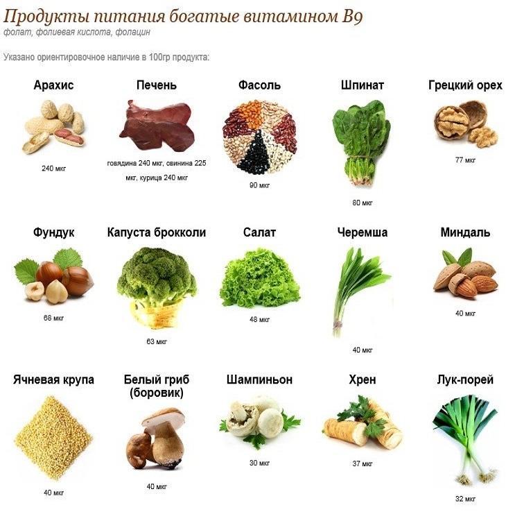 Витамин в2 в продуктах питания – источники рибофлавина