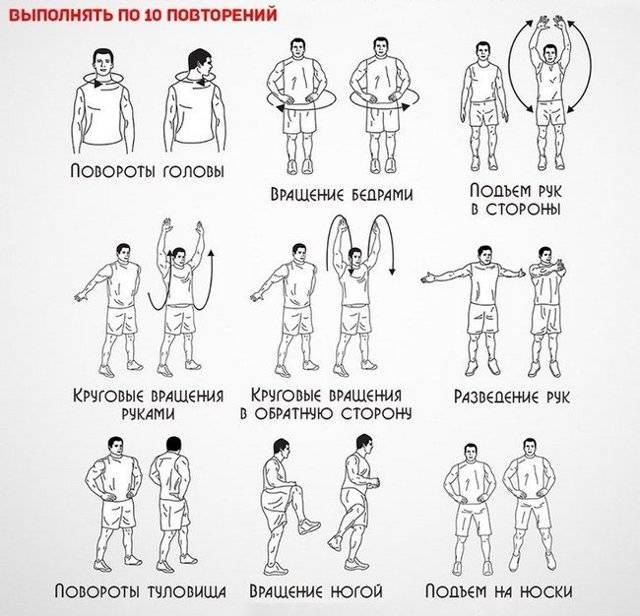 Разминка перед тренировкой в тренажерном зале: как сколько и зачем