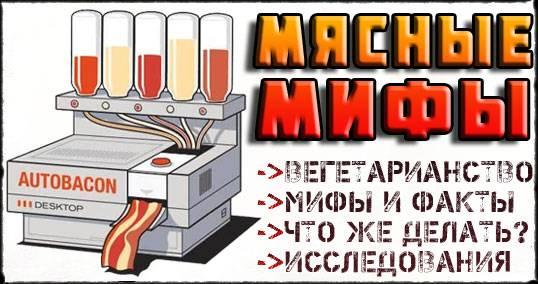 Миф о вреде мяса │ факты │ исследования — описываем подробно