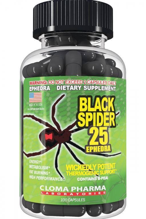 Black spider: отзывы о жиросжигателе 25 ephedra, cloma pharma, черная вдова, widow, инструкция по применению, цена, противопоказания