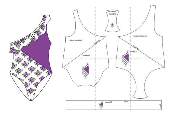 О выкройках и пошиве раздельных и слитных купальников