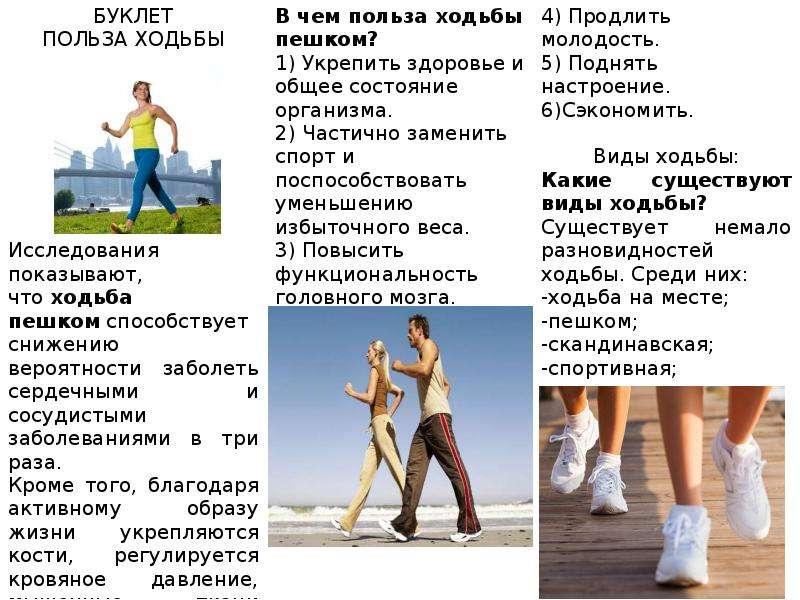 Польза ходьбы пешком: встань и иди