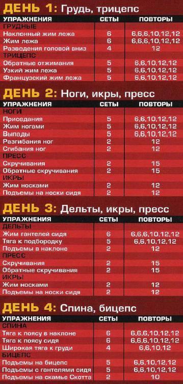 Русский цикл для пауэрлифтинга
