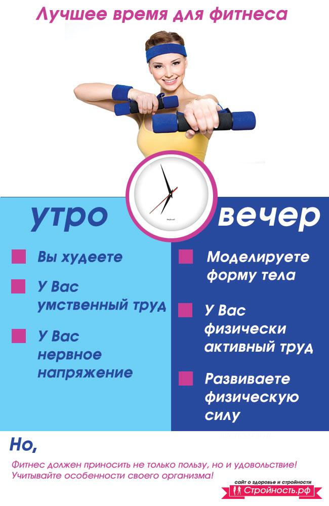 В какое время лучше заниматься спортом, чтобы похудеть быстрее