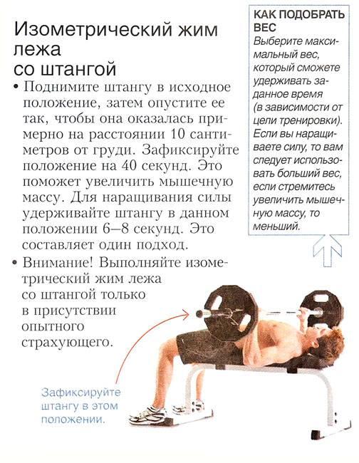 Программа тренировок для увеличения жима лежа