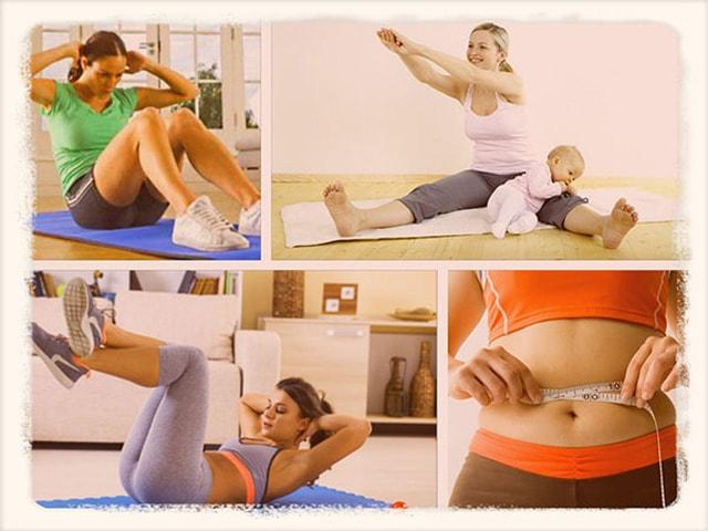 Как быстро убрать живот после родов и похудеть в домашних условиях?