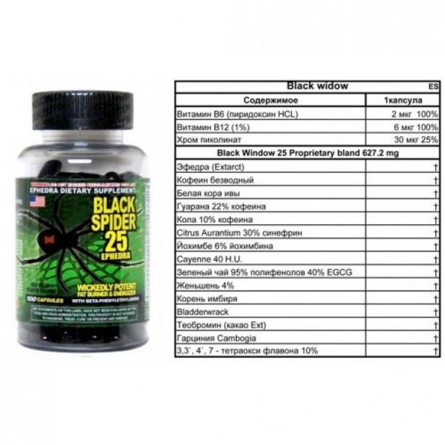 Таблетки для похудения черная вдова. black spider 25 ephedra отзывы | школа красоты