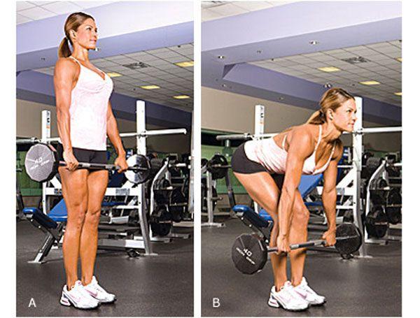 Мертвая тяга с гантелями: техника выполнения на прямых ногах, какие мышцы работают