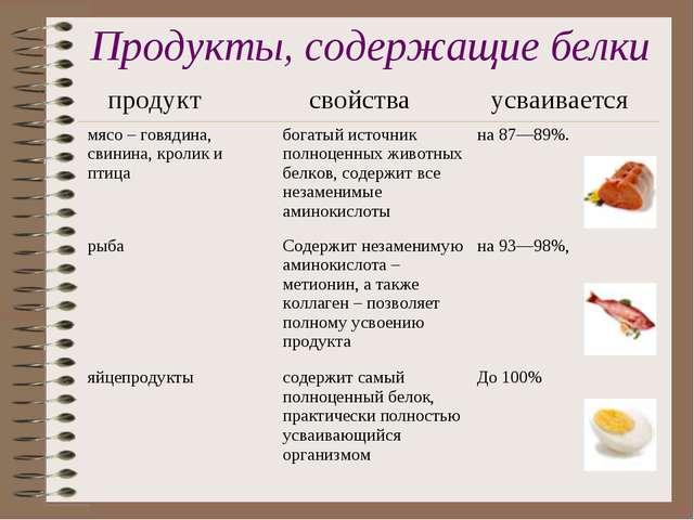 Список белковых продуктов: в каких продуктах его больше?