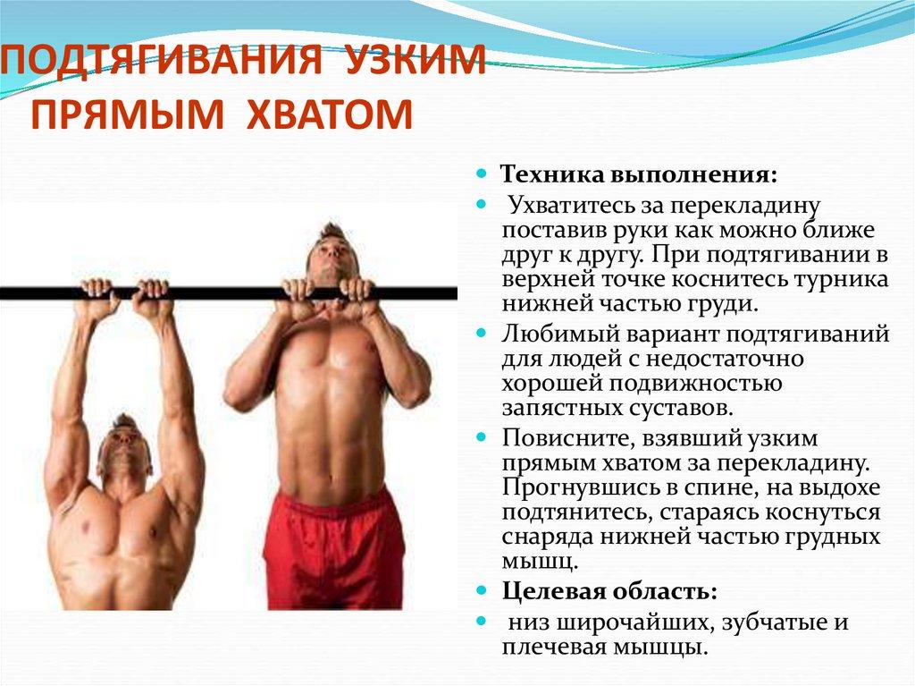 Подтягивания узким хватом: техника выполнения от а до я | rulebody.ru — правила тела