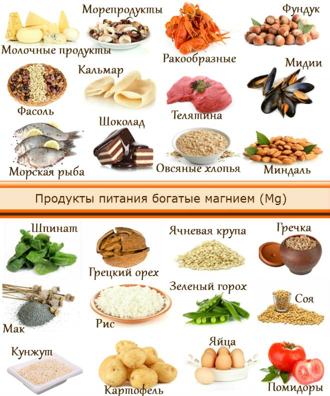 Магний: в каких продуктах содержится, магний для детей и беременных, суточная норма, избыток и недостаток, польза и вред