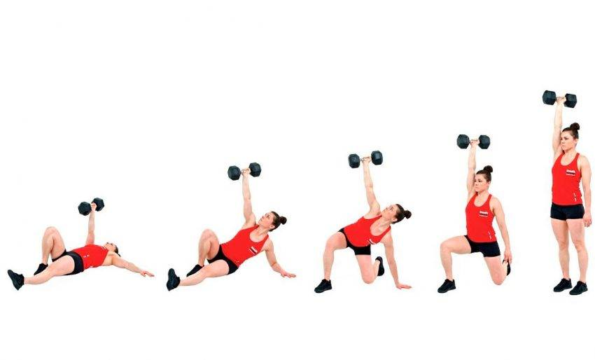 Толчок гири: техника, какие мышцы работают