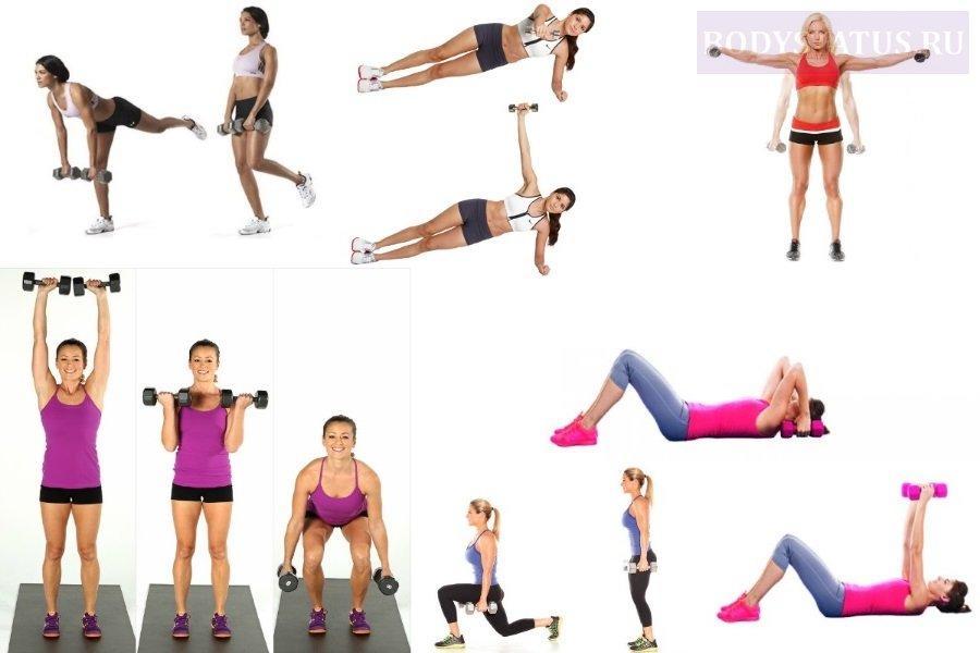 Как правильно использовать гантели для похудения женщинам: комплекс лучших упражнений для дома