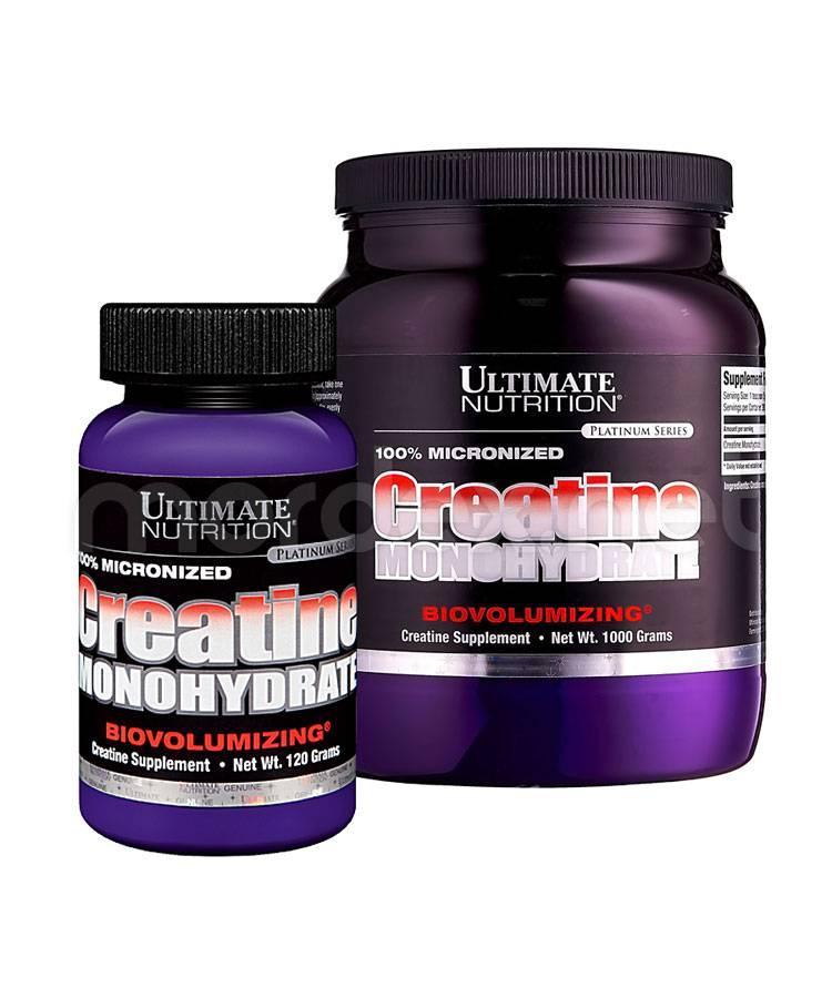 Добавка creatine monohydrate от ultimate nutrition - фото, видео, техника trainmuscles