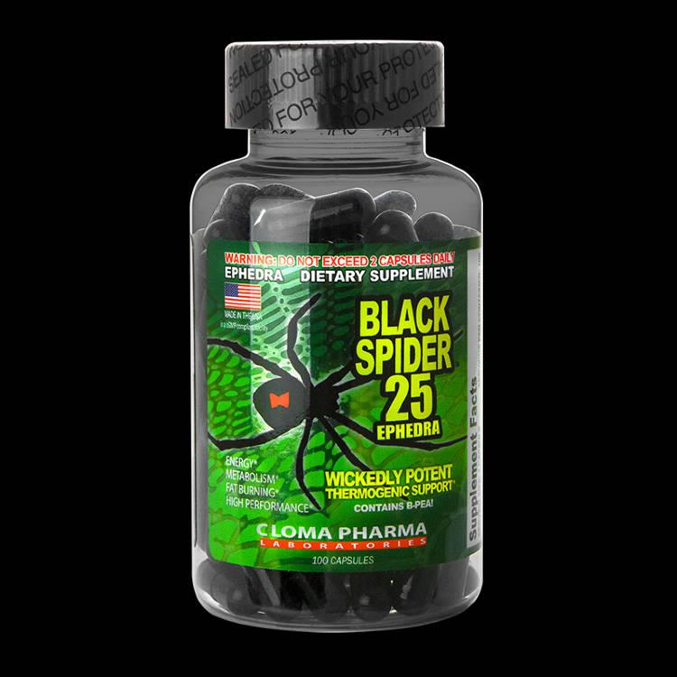 Жиросжигатель black spider 25 ephedra отзывы, как принимать
