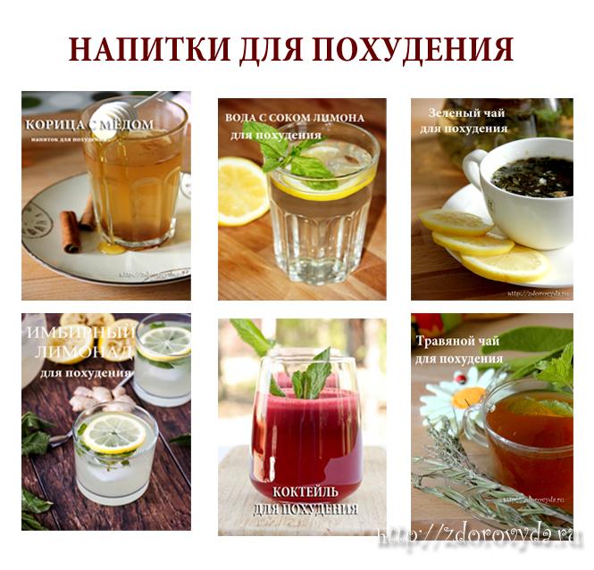 Напитки для похудения: 11 рецептов в домашних условиях