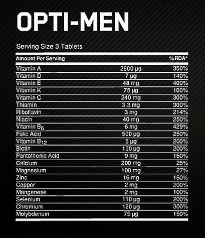 """Витамины """"опти-мен"""": инструкция по применению, состав"""