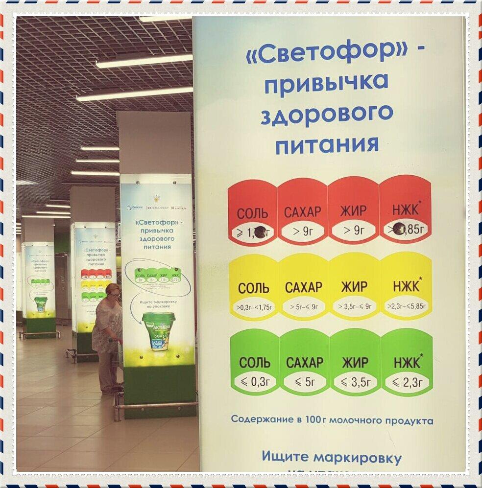 Три цвета: продуктовый «светофор» поможет отличить полезную еду от вредной // нтв.ru