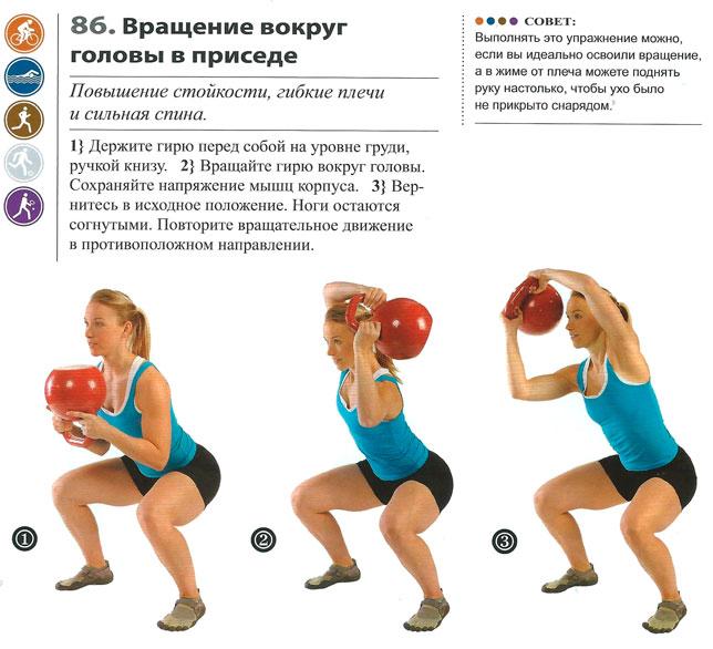 Упражнения в гиревом спорте и комплексы с гирями для новичков