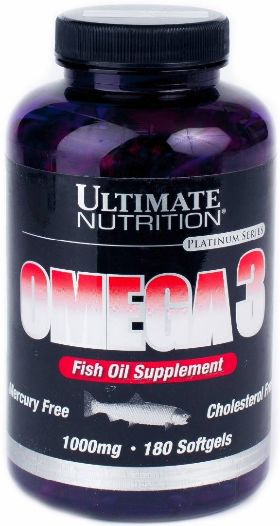 Omega 3 1000мг 180 капс (ultimate nutrition)